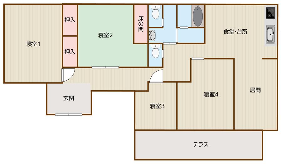 中和倉の平面図