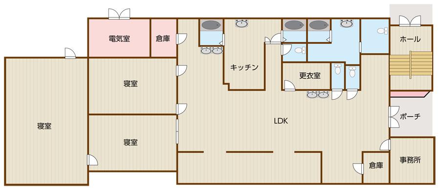 高塚新田の平面図